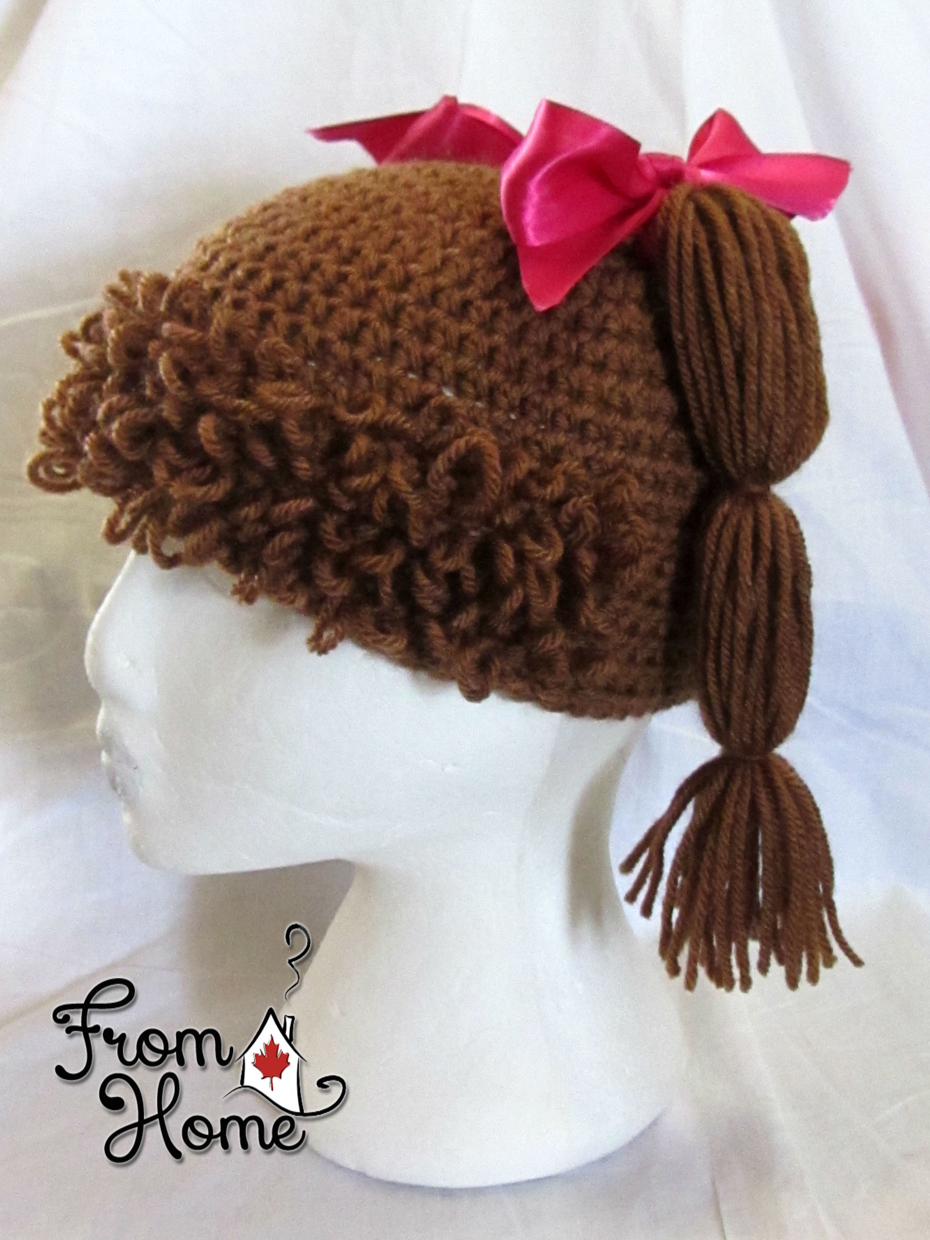 Free Pattern Crochet Cabbage Patch Hat : Cabbage Patch Hat Tutorial From Home Crochet