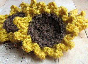 Sunflower Crochet Pattern | From Home Crochet