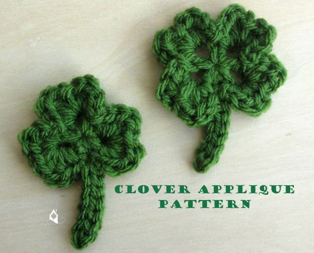 Clover Applique Free Pattern | From Home Crochet