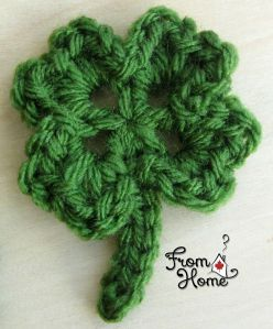 Four Leaf Clover Applique Pattern | From Home Crochet